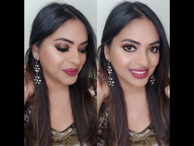 NEW YEAR EVE PARTY MAKEUP| HALO SMOKEY EYES