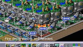 Simcity 2000 (SNES) - Rocket Pad and Exodus Event