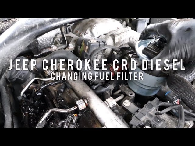 fuel filter change on jeep grand cherokee crd - youtube  youtube