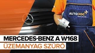 MERCEDES-BENZ A W168 Üzemanyag szűrő csere [ÚTMUTATÓ]