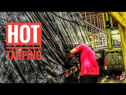 My Trucking Life | HOT TARPING | #1748