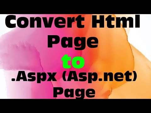 Conver Html page to .Aspx page in ASP.NET by Ajit kumar singh