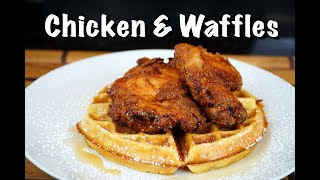 How To Make Chi¢ken & Waffles - Fried Chicken & Homemade Waffles Recipe #MrMakeItHappen