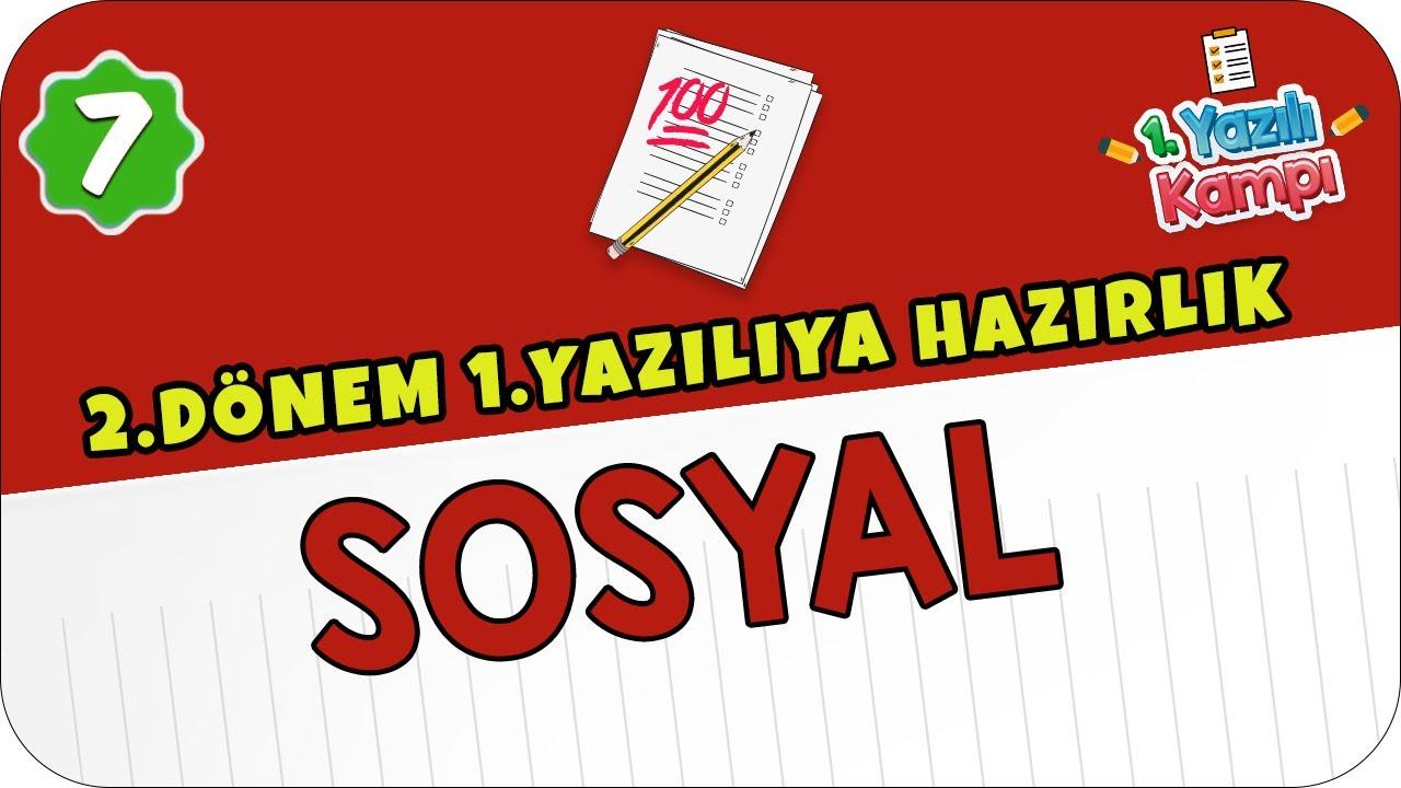 7.Sınıf Sosyal   2.Dönem 1.Yazılıya Hazırlık ✏️