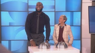 Exclusive: Ellen Gets a Look at LeBron James' Dance Moves During a Commercial Break