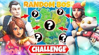 Die RANDOM BOSS CHALLENGE in FORTNITE!