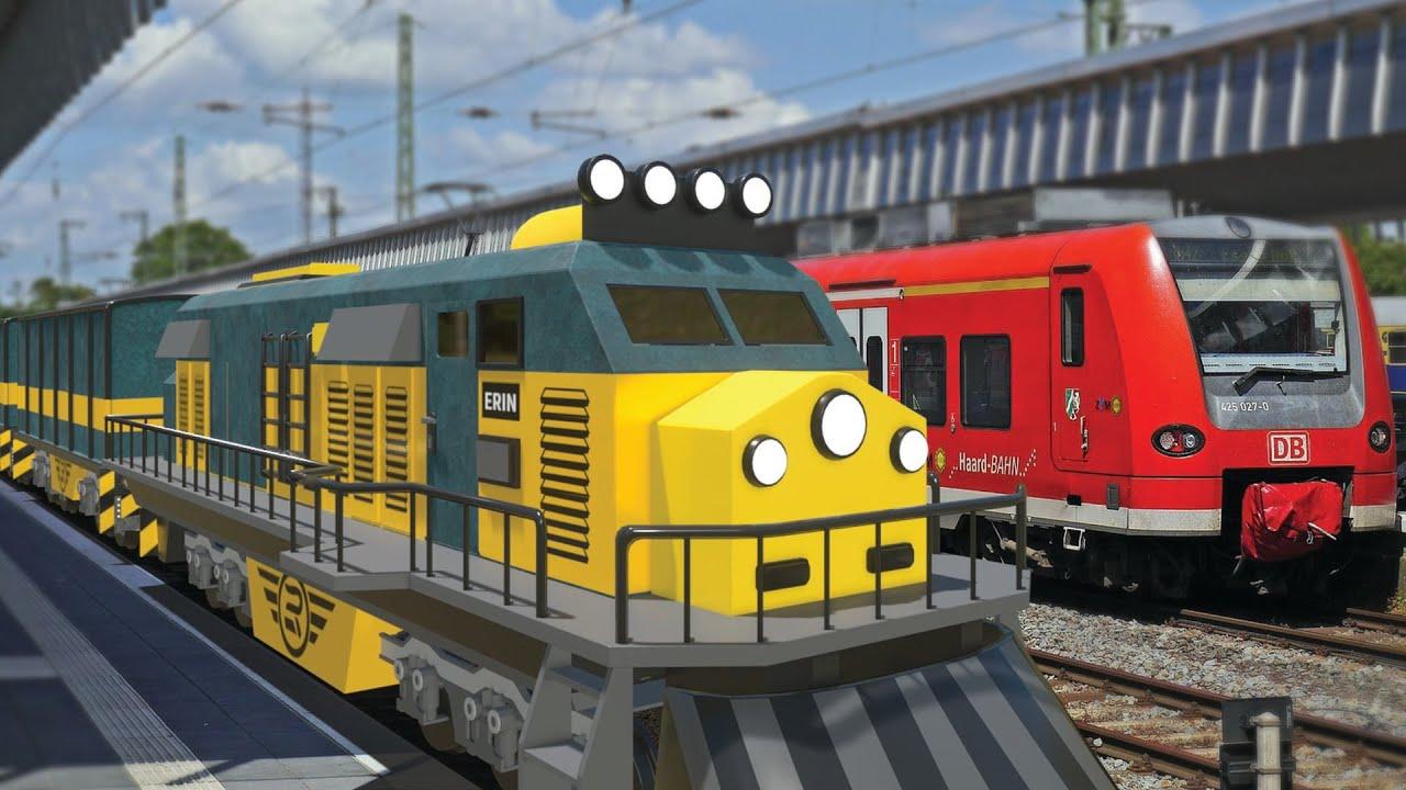 Lego Train Ride - Poice and Thief cartoon - choo choo train kids videos
