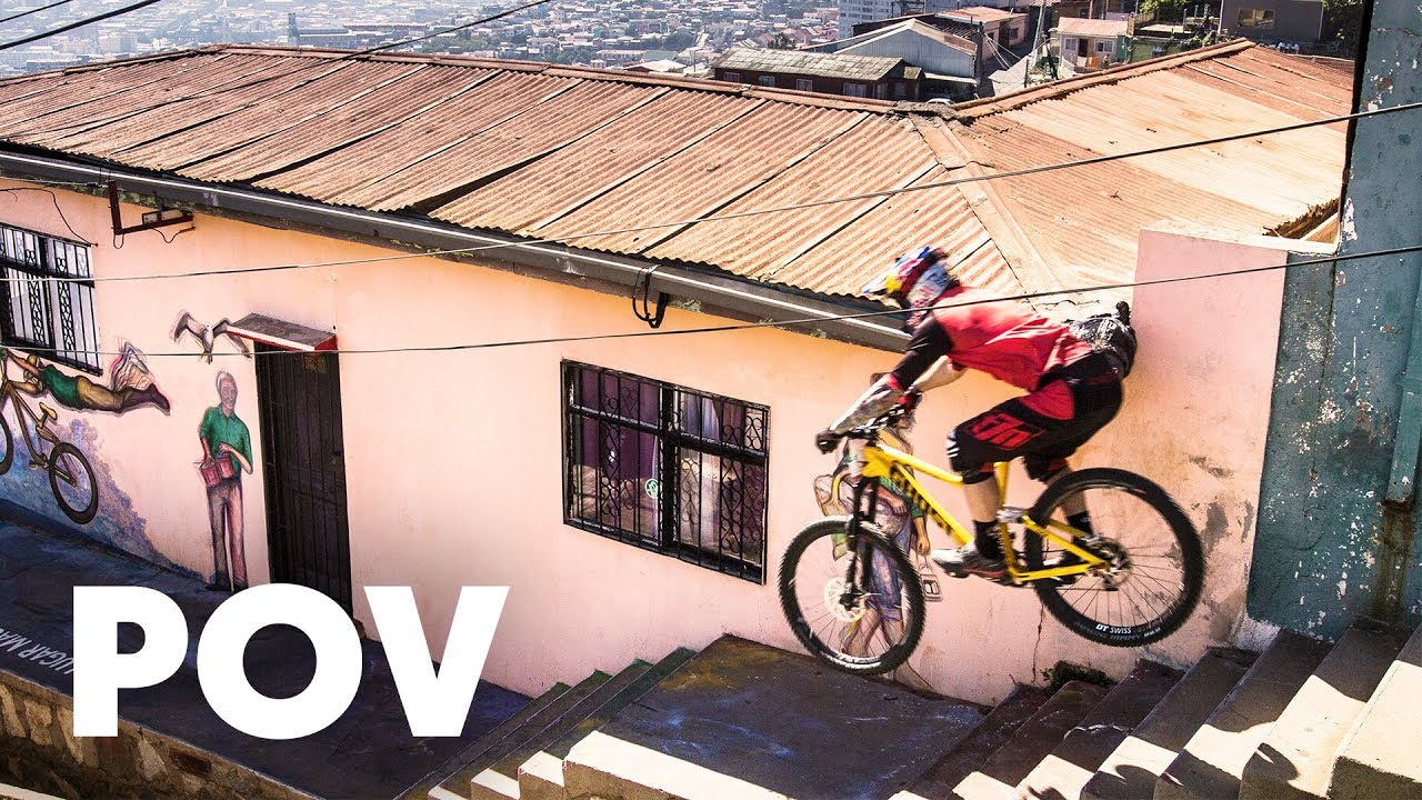 39597b09f50 Urban MTB POV Video: Tomas Slavik's Intense Winning Run at Red Bull  Valparaíso Cerro Abajo 2018