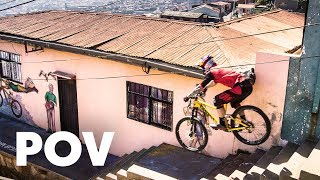 Tomáš Slavik's intense winning run at Red Bull Valparaíso Cerro Abajo 2018 | Urban MTB