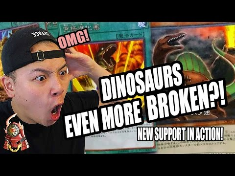 *YUGIOH* NEW DINOSAUR SUPPORT IS BROKEN! GIANT REX & ULTRA EVOLUTION! NEW CARDS IN ACTION! OMG 2017