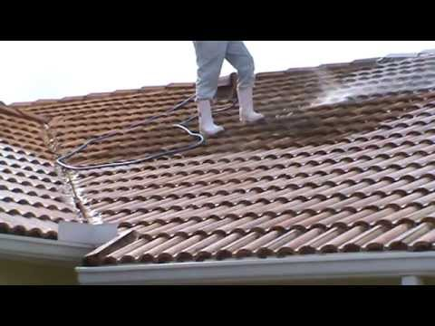 Soft wash roof cleaning blackened tile pressure cleaning bergman youtube - Using water pressure roof cleaning ...