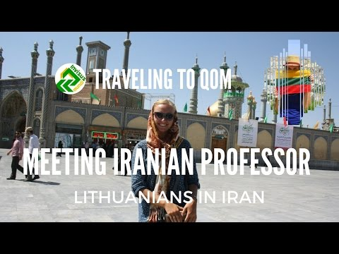 Iran, Qom. Meeting Iranian lecturer. Traveling around the world