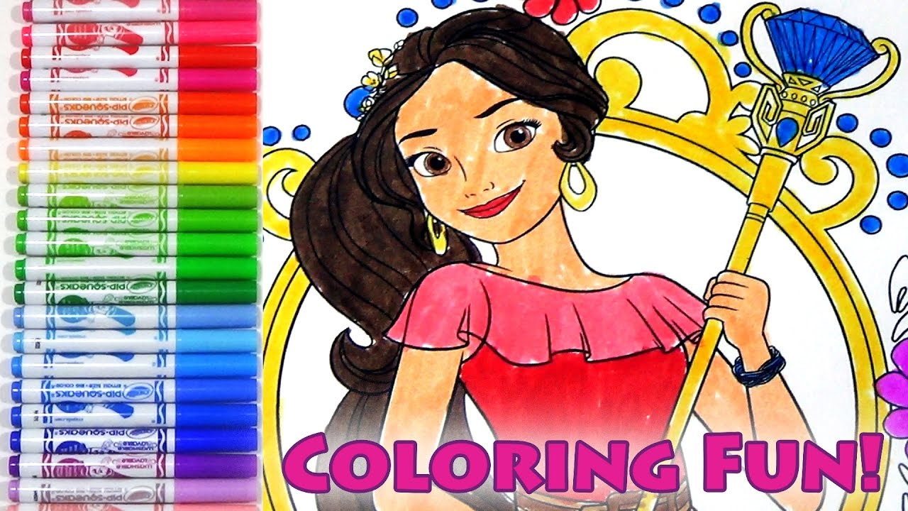 Coloring pages elena of avalor