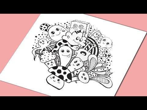 60 Gambar Doodle Pramuka Berwarna Keren HD