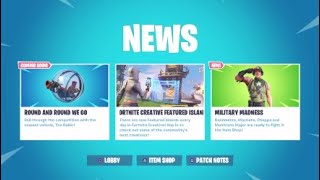 FORTNITE NEW BALLER VEHICLE UPDATE PLUS NEW MILITARY MADNESS SKIN AVAILABLE NOW