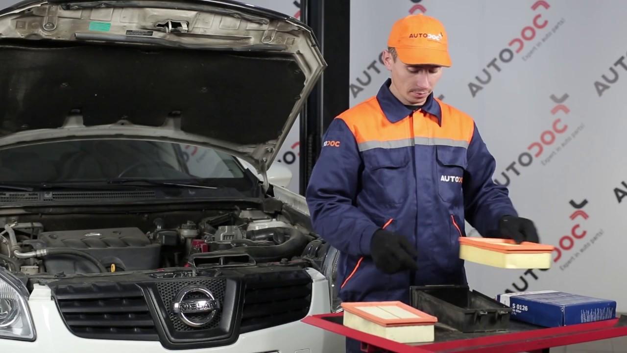 Comment Remplacer Des Filtre 224 Air Sur Une Nissan Qashqai