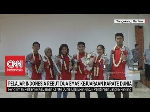 Pelajar Indonesia Rebut 2 Emas Kejuaraan Karate Dunia Mp3