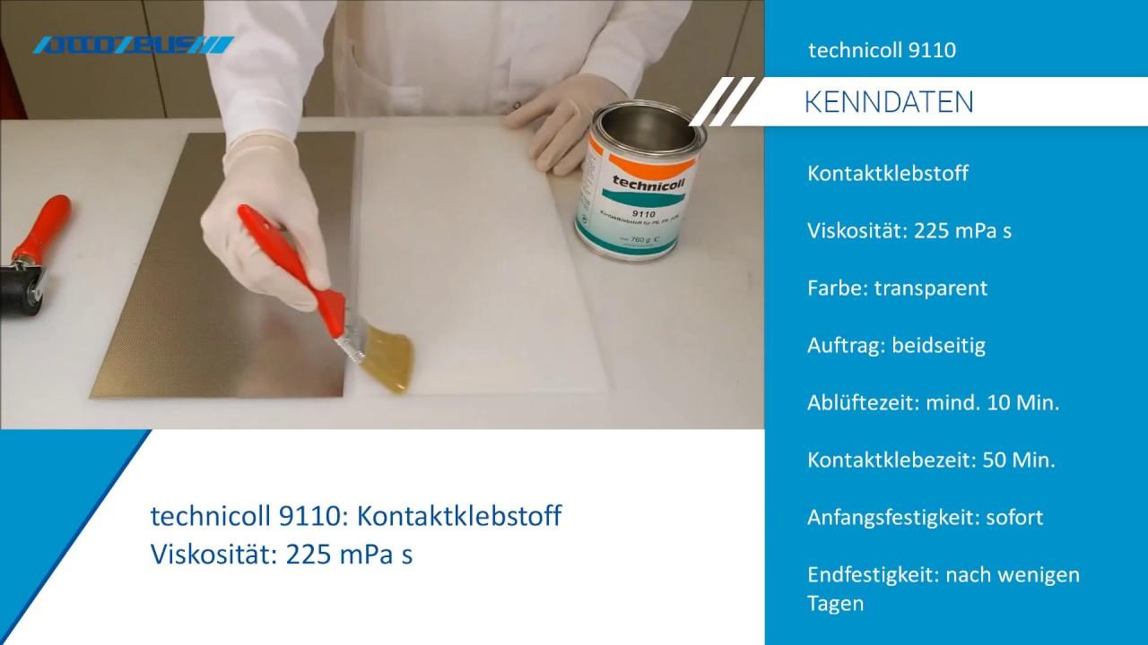 Pe Pp Platte Mit Stahlblech Kleben Mit Technicoll 9110 Youtube
