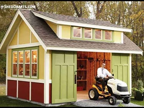 12×16 Garden Storage Shed Building Plans For Crafting DIY Gable Shed