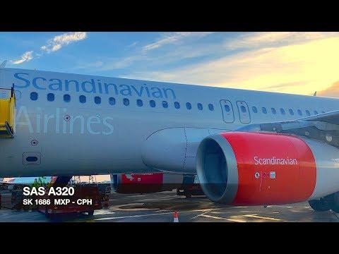 TRIP REPORT | SAS A320 | Milan MXP ✈ Copenhagen | RARE takeoff rwy 17R | Economy Class