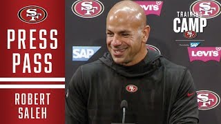 Robert Saleh Shares Confidence in Improved Defensive Line | San Francisco 49ers