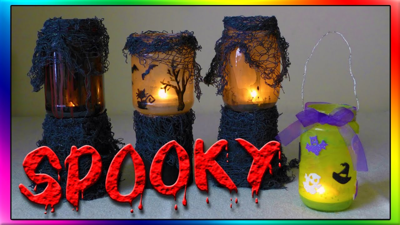 diy haunted halloween lanterns youtube - How To Make Halloween Lanterns