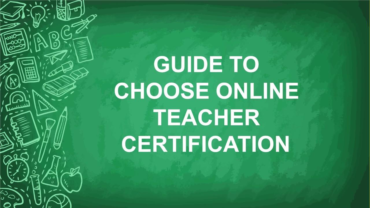 Online Teacher Certification Youtube