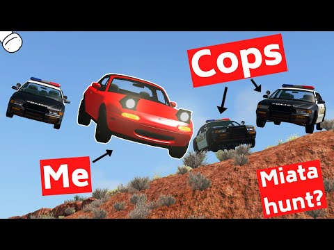 BeamNG Carhunt, but in a Tiny and Underpowered Miata - CarMightyVids
