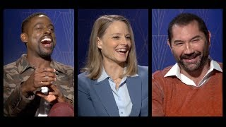 HOTEL ARTEMIS Interviews: Jodie Foster, Sterling K. Brown, Dave Bautista, Charlie Day & more!