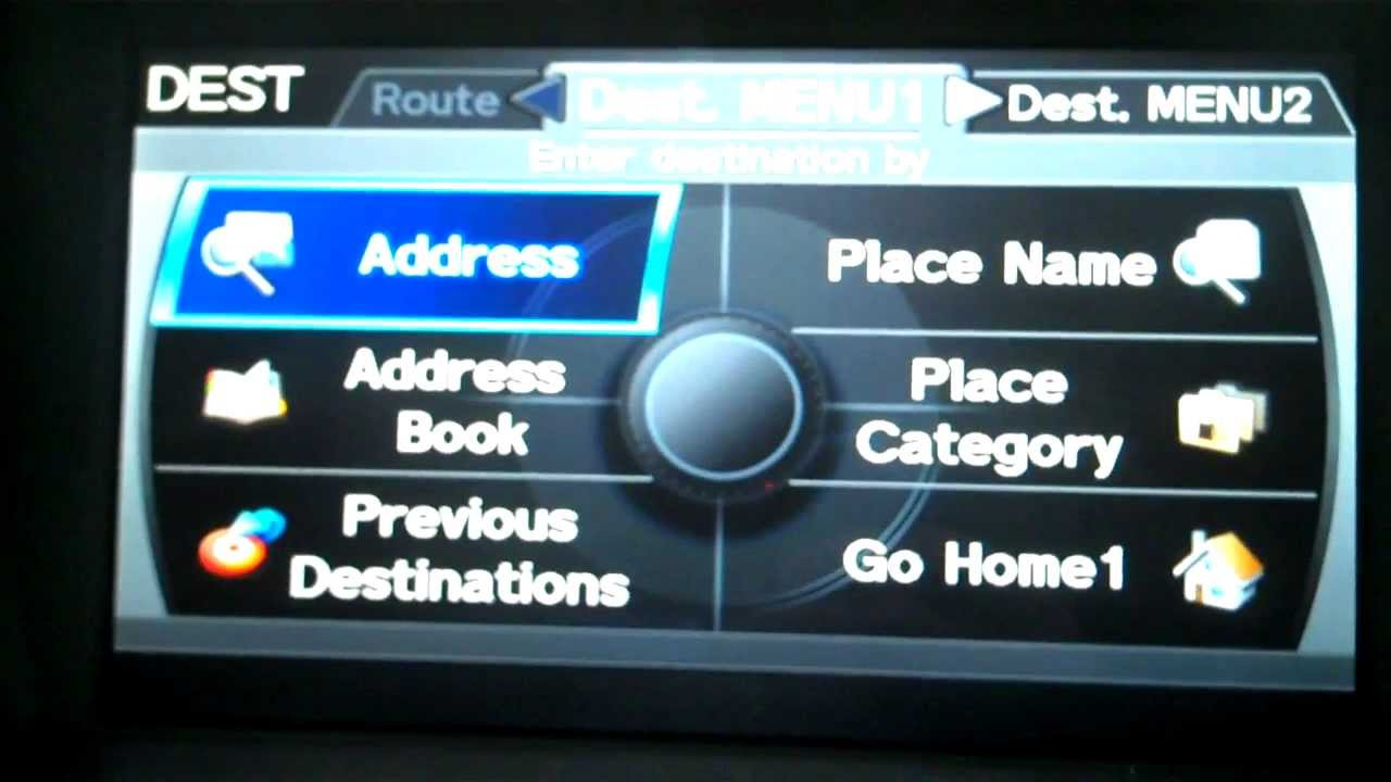 how to operate the navigation system on a 2012 acura tl - youtube