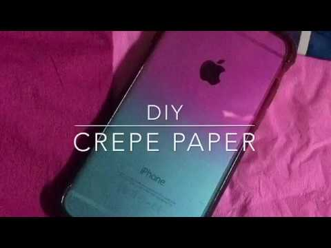 Iphone 6 CASE DIY CREPE PAPER | Lovely Idulsa