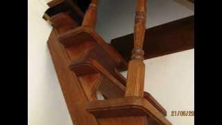 видео Лестница гусиный шаг своими руками: особенности монтажа