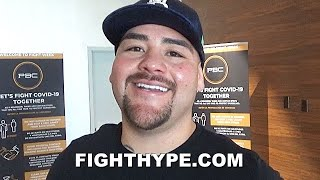 "ANDY RUIZ REACTS TO DEONTAY WILDER BACK TRAINING & CHANGES; TELLS HIM ""I'D BE WILLING"" TO FIGHT NEXT"