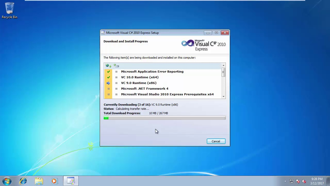 How to download and install visual c# 2010 express in urdu and.