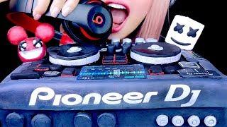 ASMR EDIBLE DJ MIXER, BEATS HEADPHONES, MARSHMELLO, DEADMAU5 | Eating Sounds