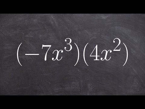 How Do You Use The Rules Of Exponents When Multiplying Monomials By Monomials