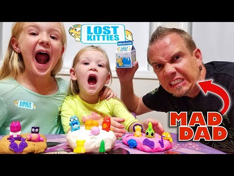 LOST KITTIES Toy Scavenger Hunt! Mad Dad Hides Our New Toys!!!