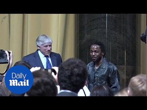Stay humble! Kendrick Lamar accepts the Pulitzer Prize
