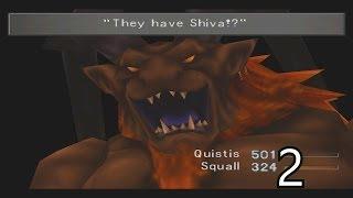 Final Fantasy VIII Walkthrough Part 2 - Fire Cavern & Ifrit Boss Battle HD