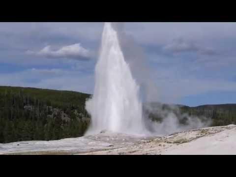 Old Faithful Eruption Yellowstone Geyser