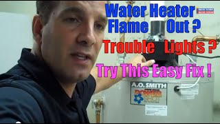 Water Heater Flame Gas Short Cycle Ignitor Problem Sensor Troubleshoot Repair AO Smith Igniter