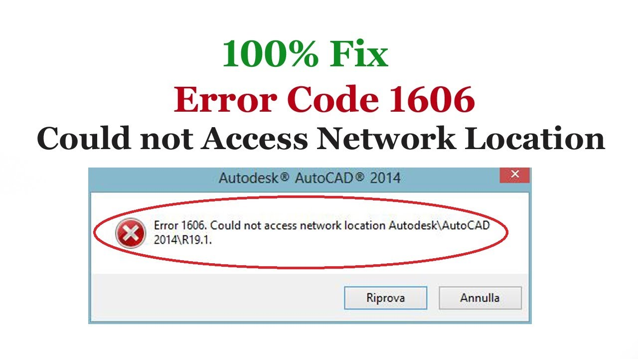 Download Fix Error Code 1606 Could not Access Network Location in Windows 10