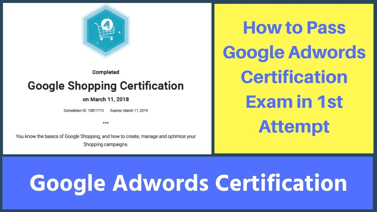 How To Pass Google Adwords Certification Exam In 1st Attempt
