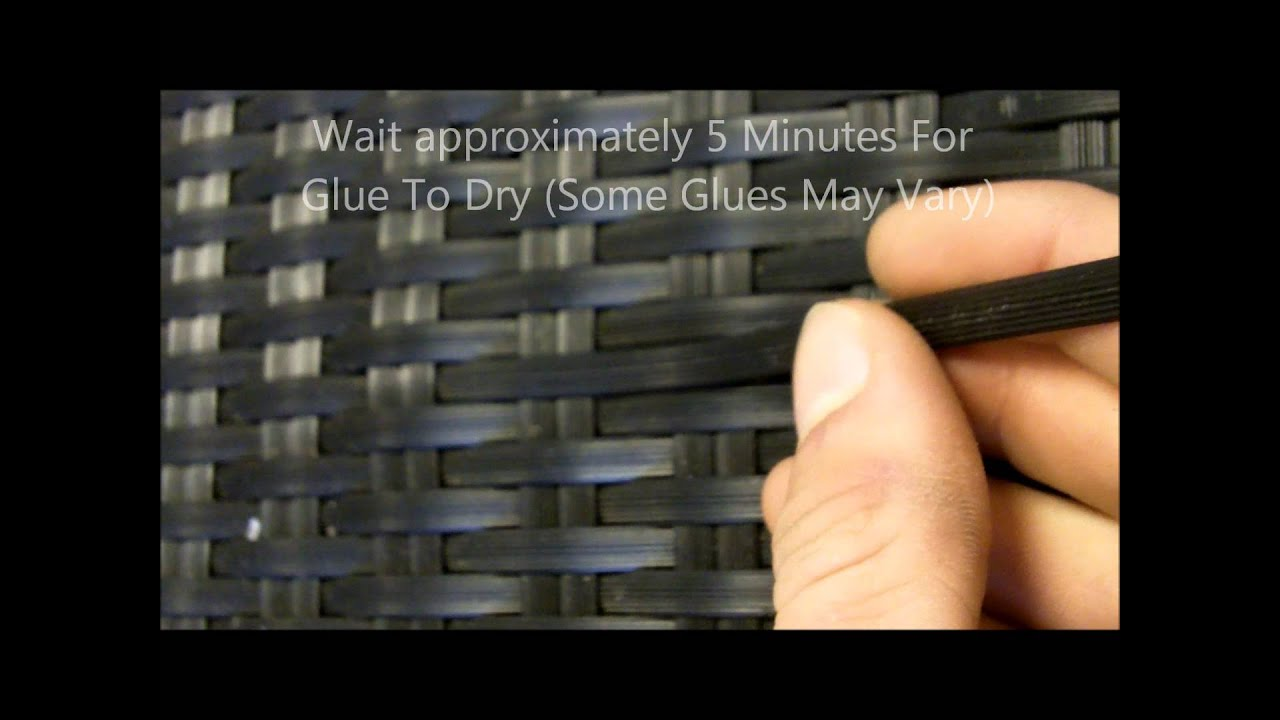 Repair Rattan Chair Seat Ergonomic Office Chairs How To Garden Furniture White Stores Youtube