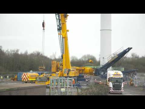 Andrew Bowen - Skanska Project Manager at the Nash Wind Turbine near Newport