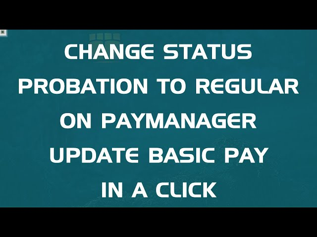 Employee Pay Details | Paymanager | Probation | Status update | RajEmployee