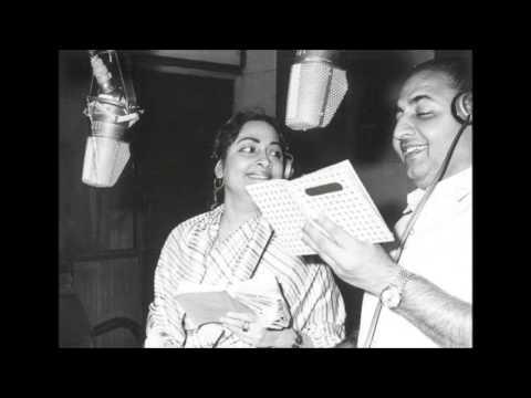 Geeta Dutt , Mohd Rafi : Kal Talak Hum Theek Thaa - Detective (1958)