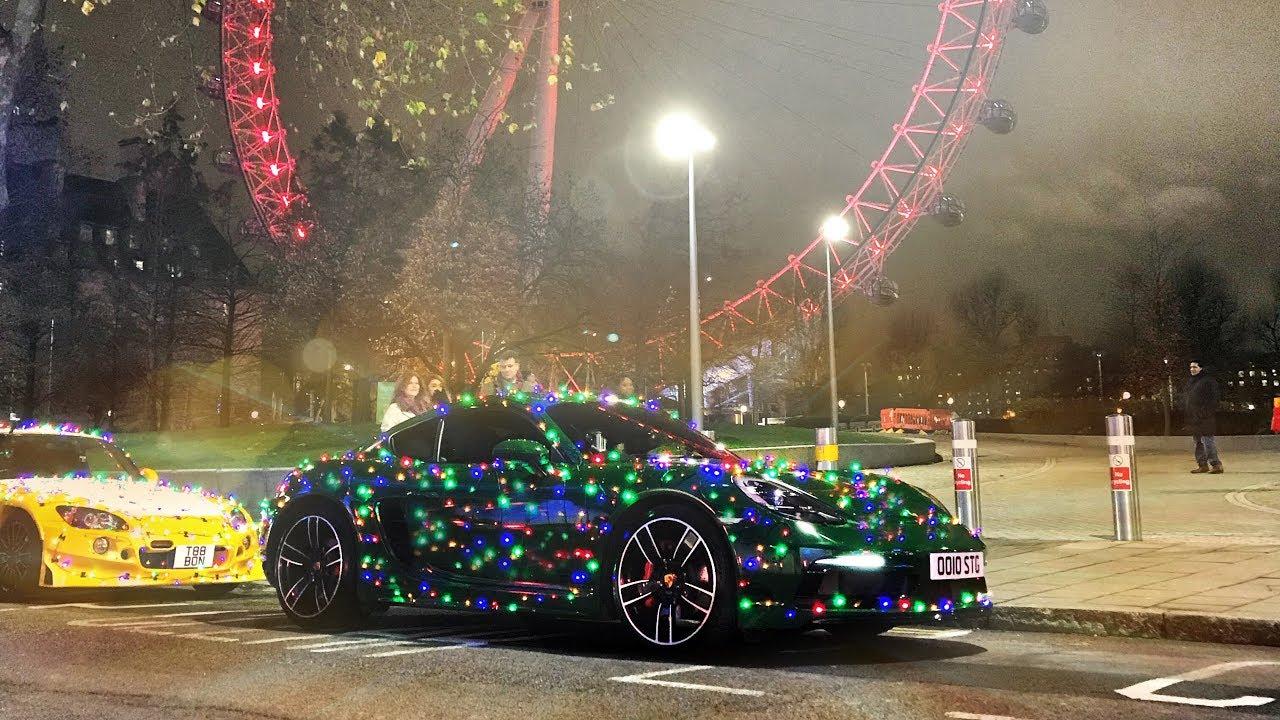 Car Christmas Tree.I Turned My Car Into A Christmas Tree