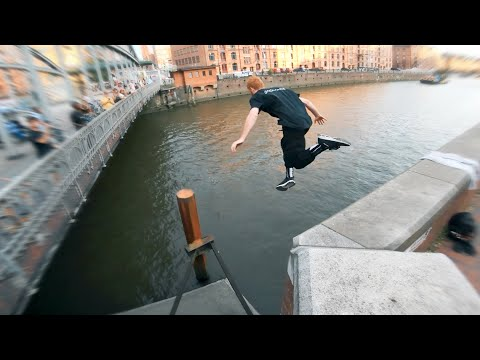 Parkour Water Challenge Hamburg - DON'T GET WET 🇩🇪