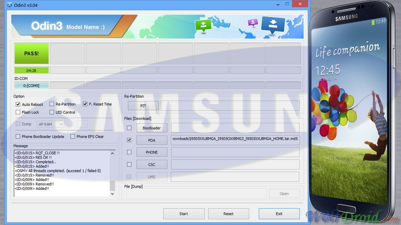 How to Flash Official Firmware for Samsung Galaxy S4 by Odin - W0lfDroid